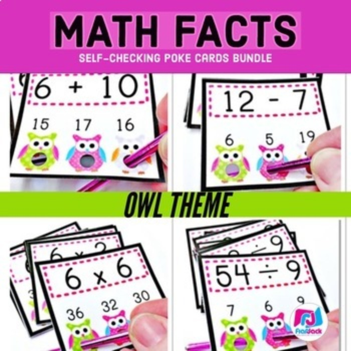Owl Poke MATH FACTS Bundle