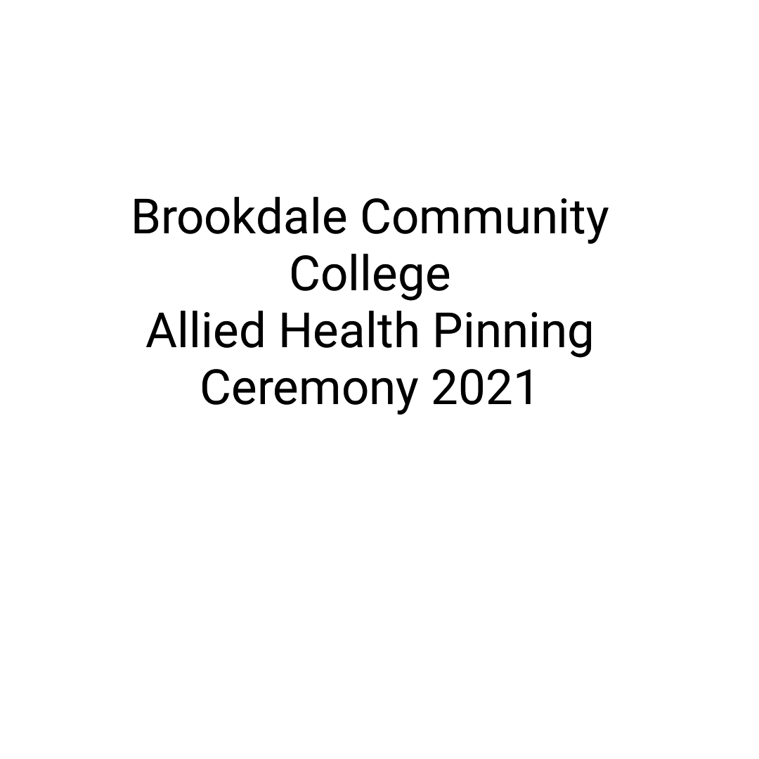 Brookdale Allied Health Pinning Ceremony Spring 2021 Graduating Class