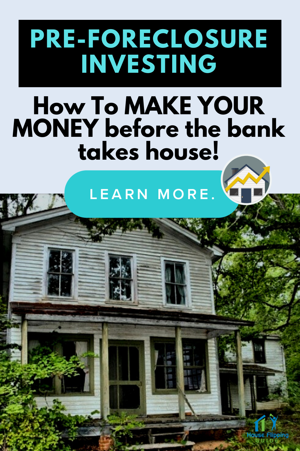 Pre-Foreclosure Investing:  How To Make Your Money Before the Bank Takes the House!