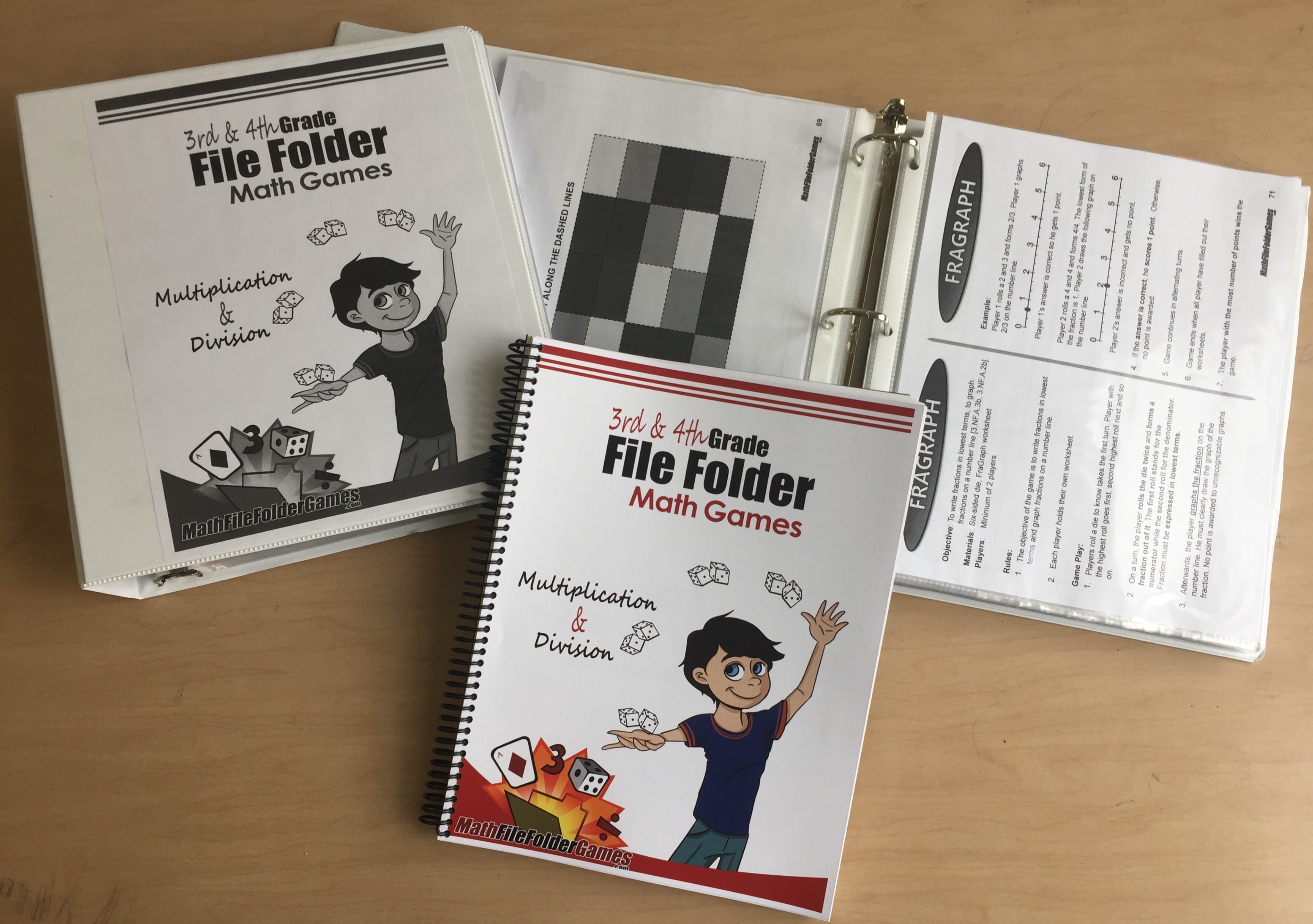 3rd & 4th Grade File Folder Math Games (Physical Product)