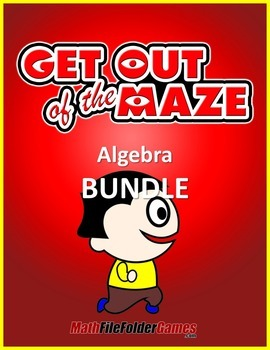 Algebra Mazes (Solving Equations Worksheets)