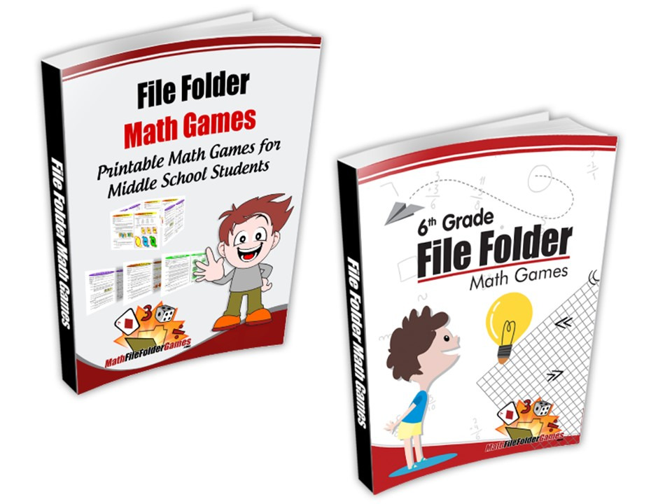 6th Grade + Middle School File Folder Math Games