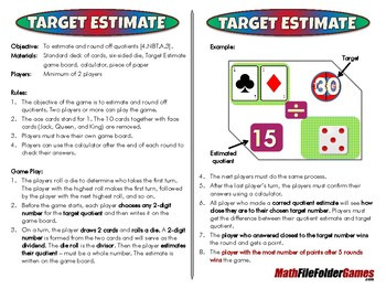Target Estimate - 4th Grade Math Game [CCSS 4.NBT.A.3]
