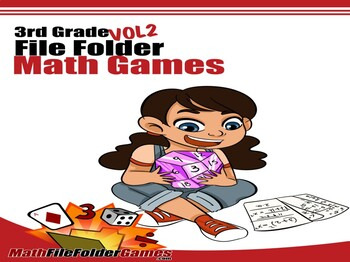 3rd Grade File Folder Math Games - Vol 2