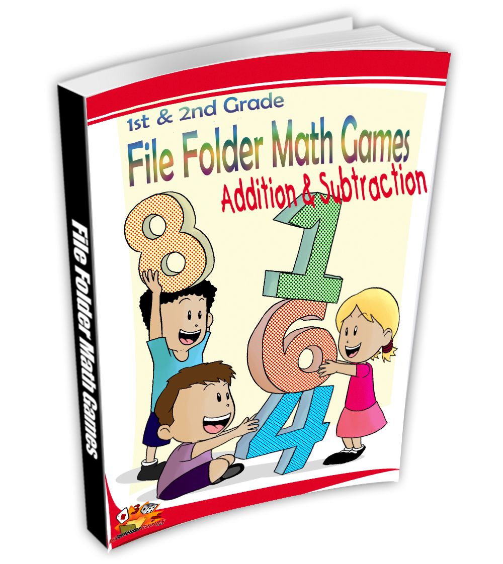 ​1st & 2nd Grade File Folder Math Games - BOOK 2