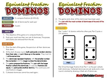Equivalent Fractions Dominos