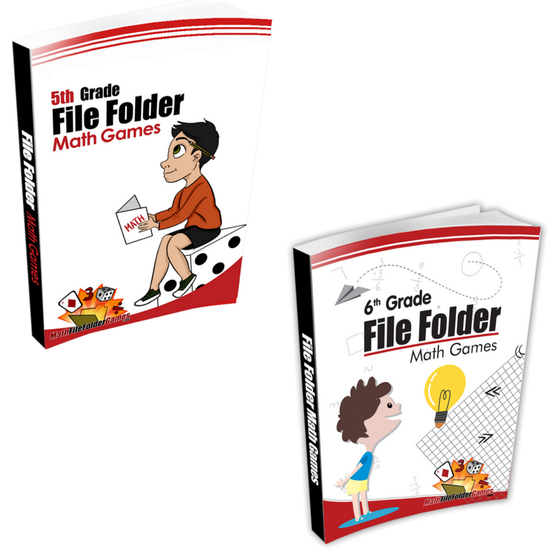 5th Grade + 6th Grade File Folder Math Games