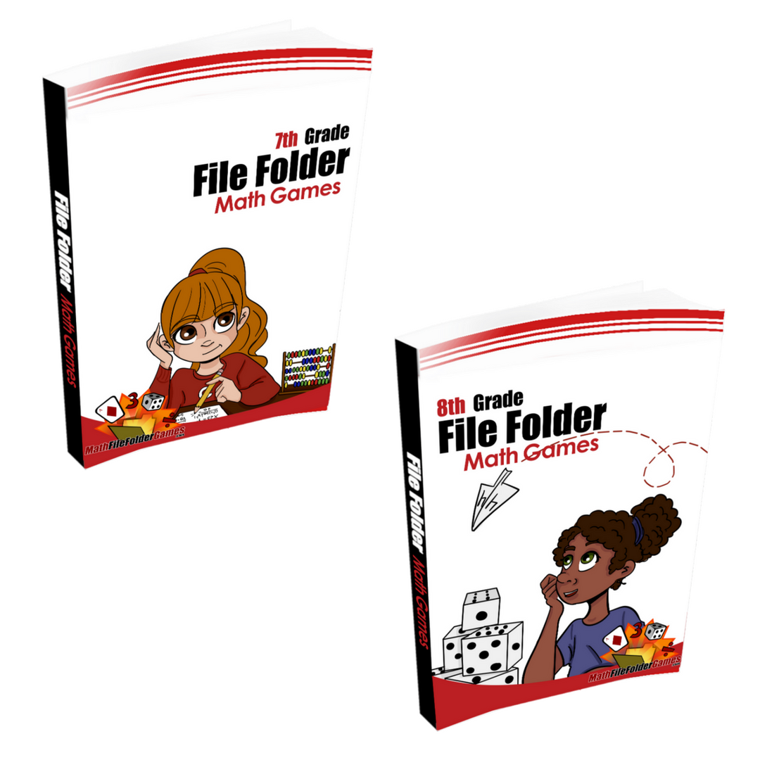 7th Grade + 8th Grade File Folder Books