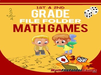 1st & 2nd Grade File Folder Math Games BUNDLE
