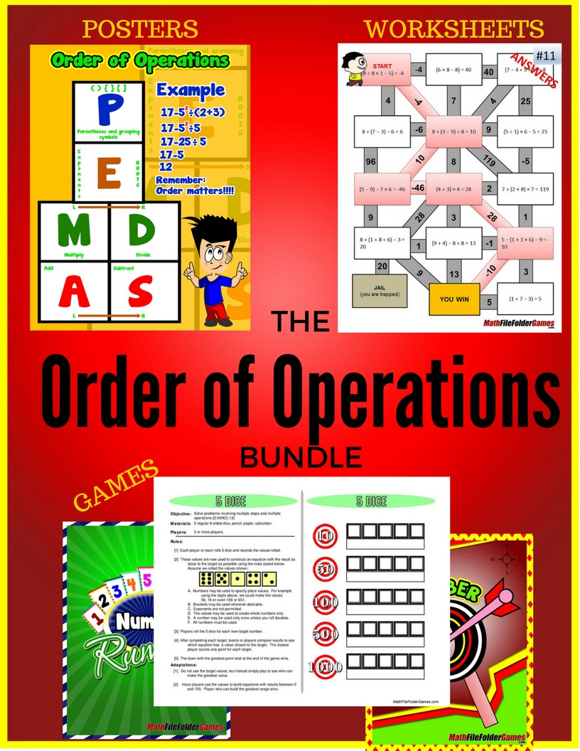 Focus on Order of Operations – ULTIMATE Resource!