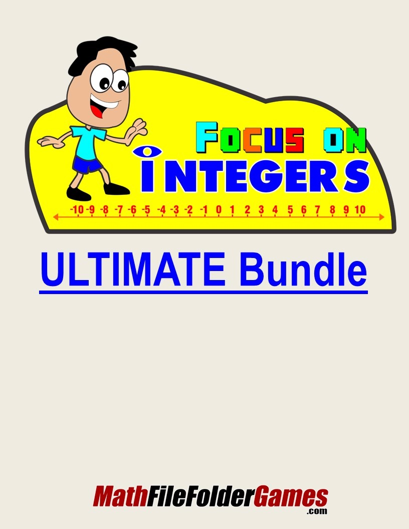 Focus On Integers ULTIMATE Bundle