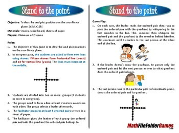 [6. NS.C.6b] Stand to the Point - Coordinate Plane Game