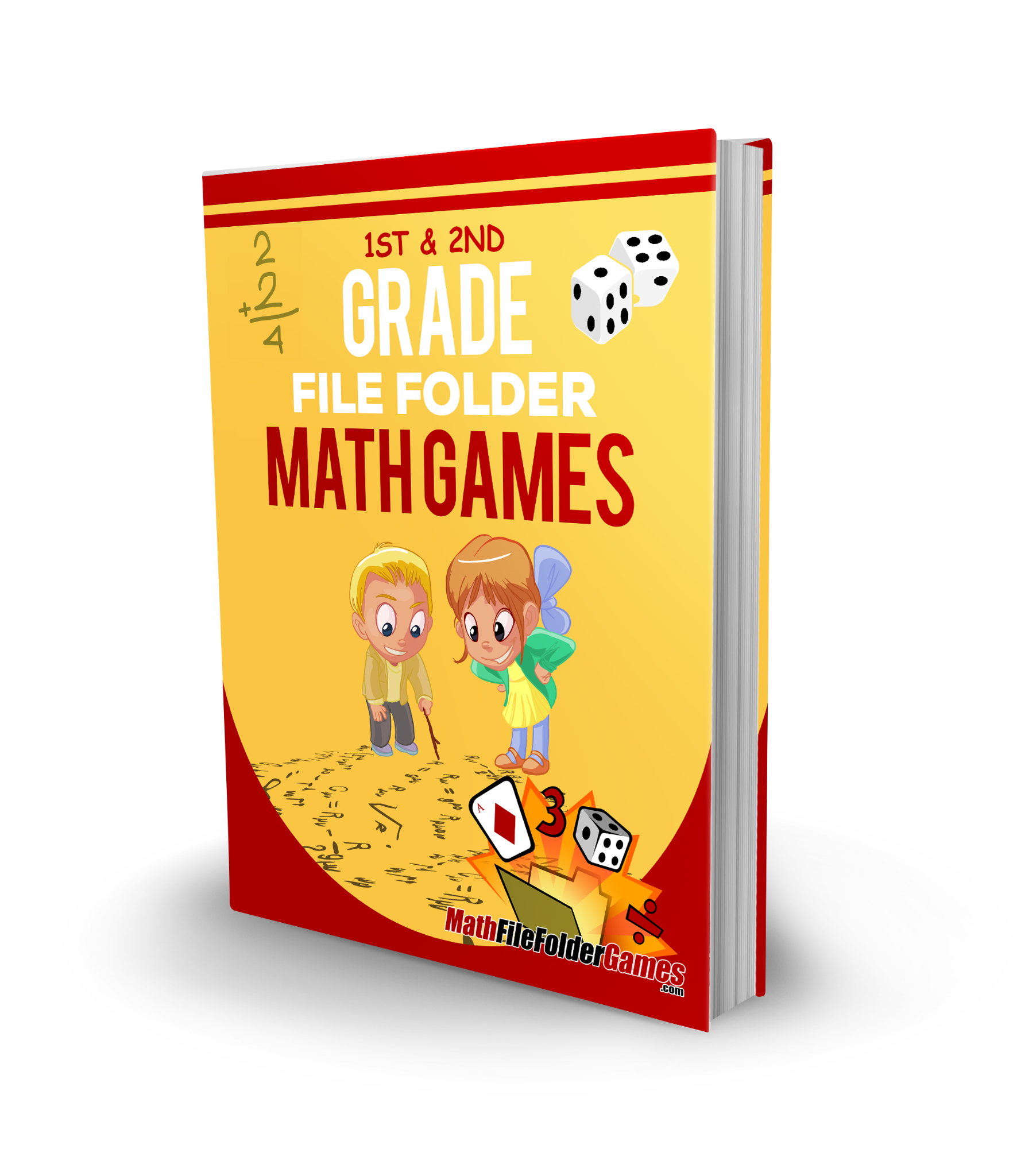 ​1st & 2nd Grade File Folder Math Games - BOOK 1