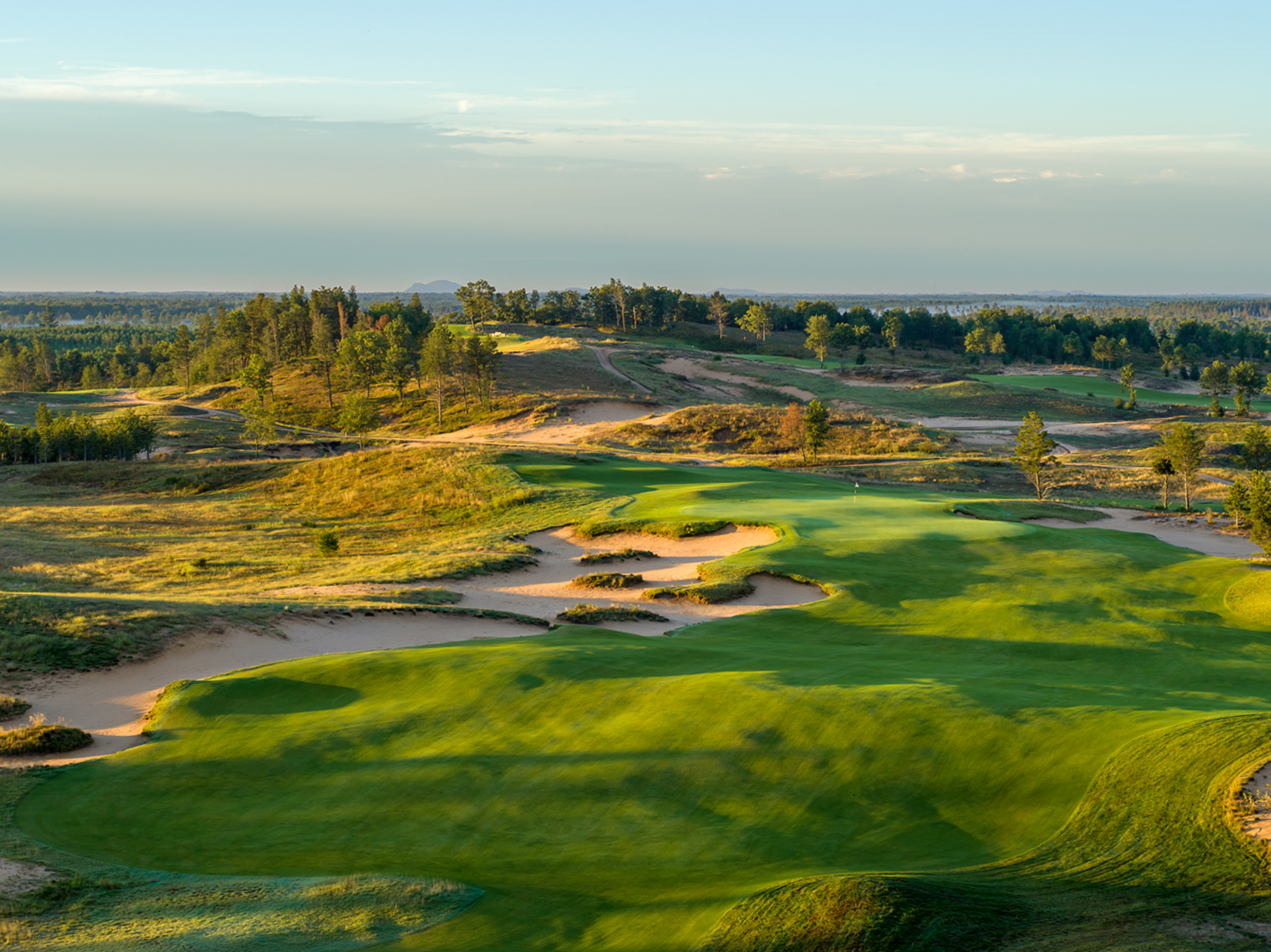 1st Hole, Sand Valley