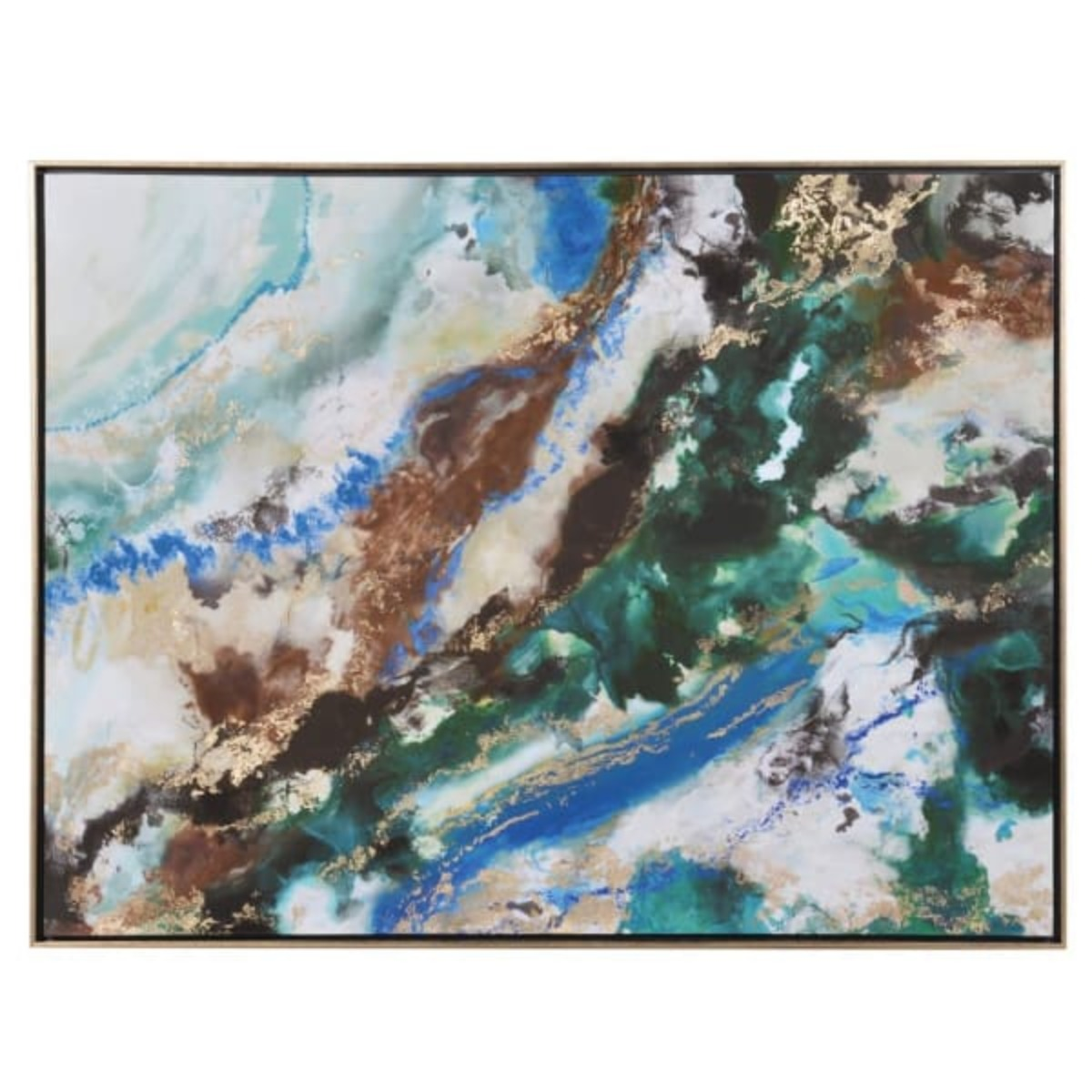 1835 Marble abstract art blue/green