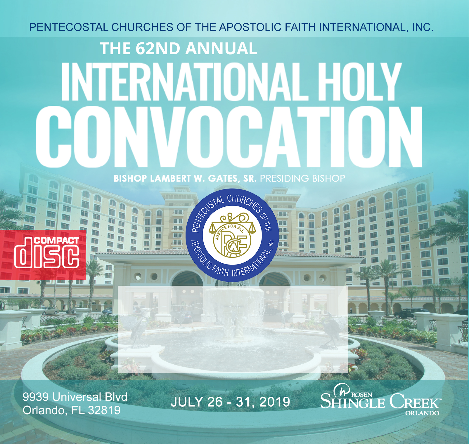 CD - Friday Int'l Holy Convocation 2019 Grand Opening