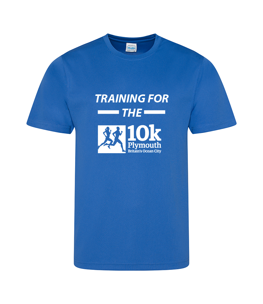 Royal Blue Training for the Plymouth 10k Shirt