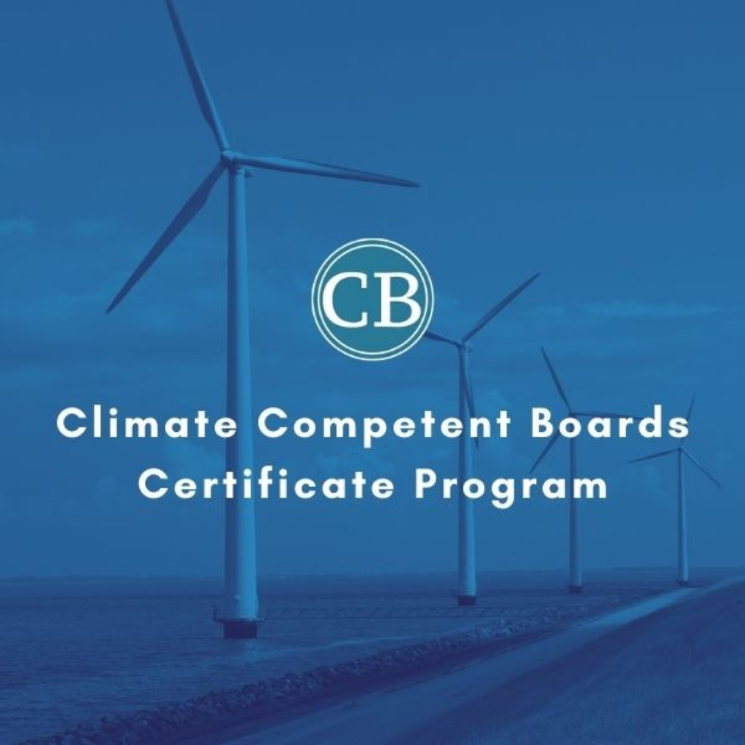 Climate Competent Boards Certificate Program for Business Professionals