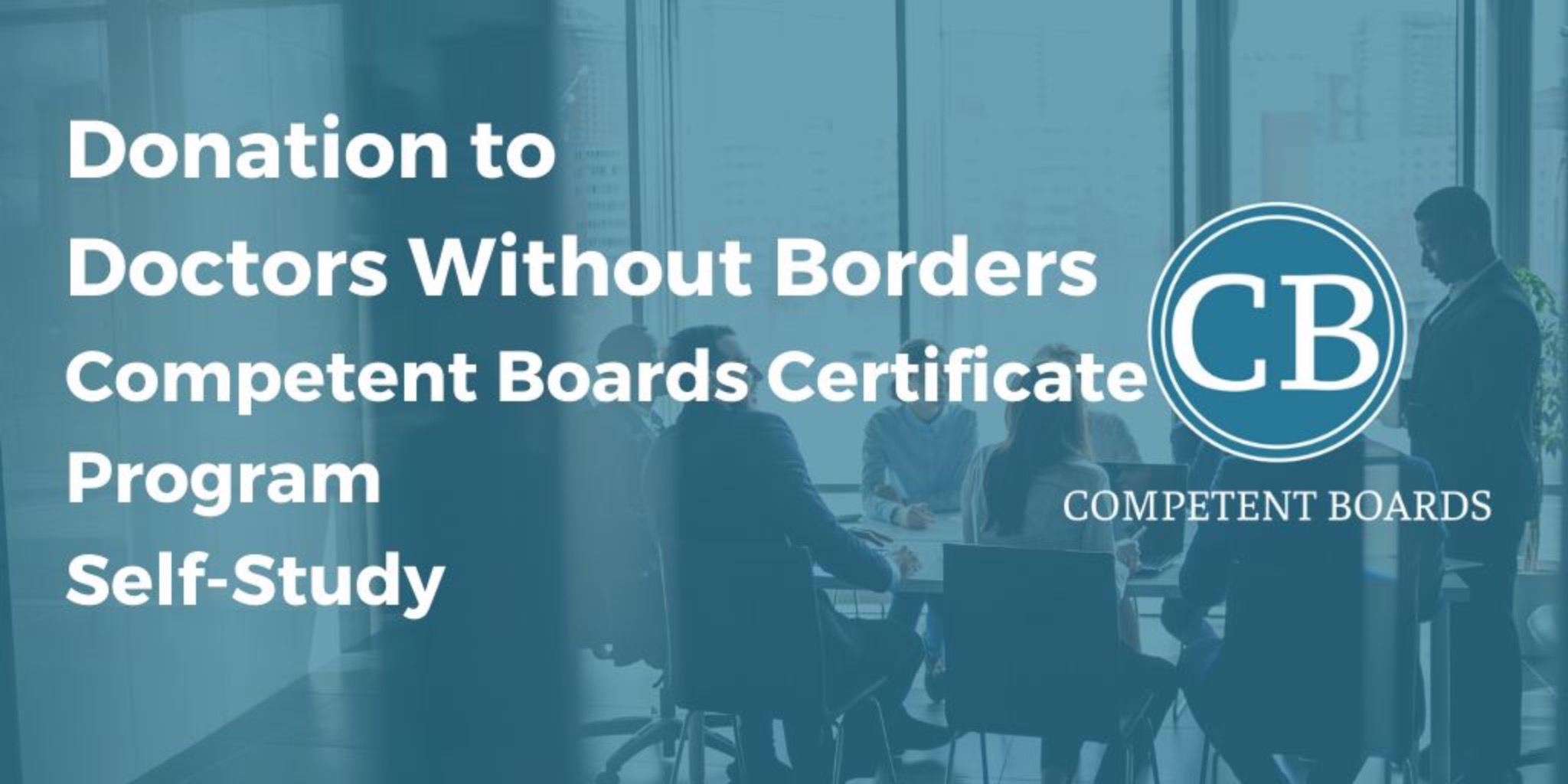 Certificate Program Self-Study - Donate to Doctors Without Borders