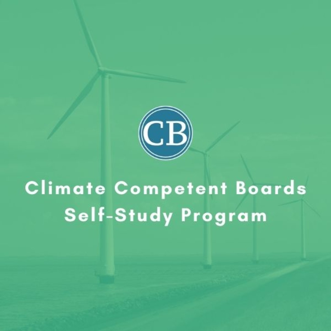 Climate Competent Boards Self-Study Program