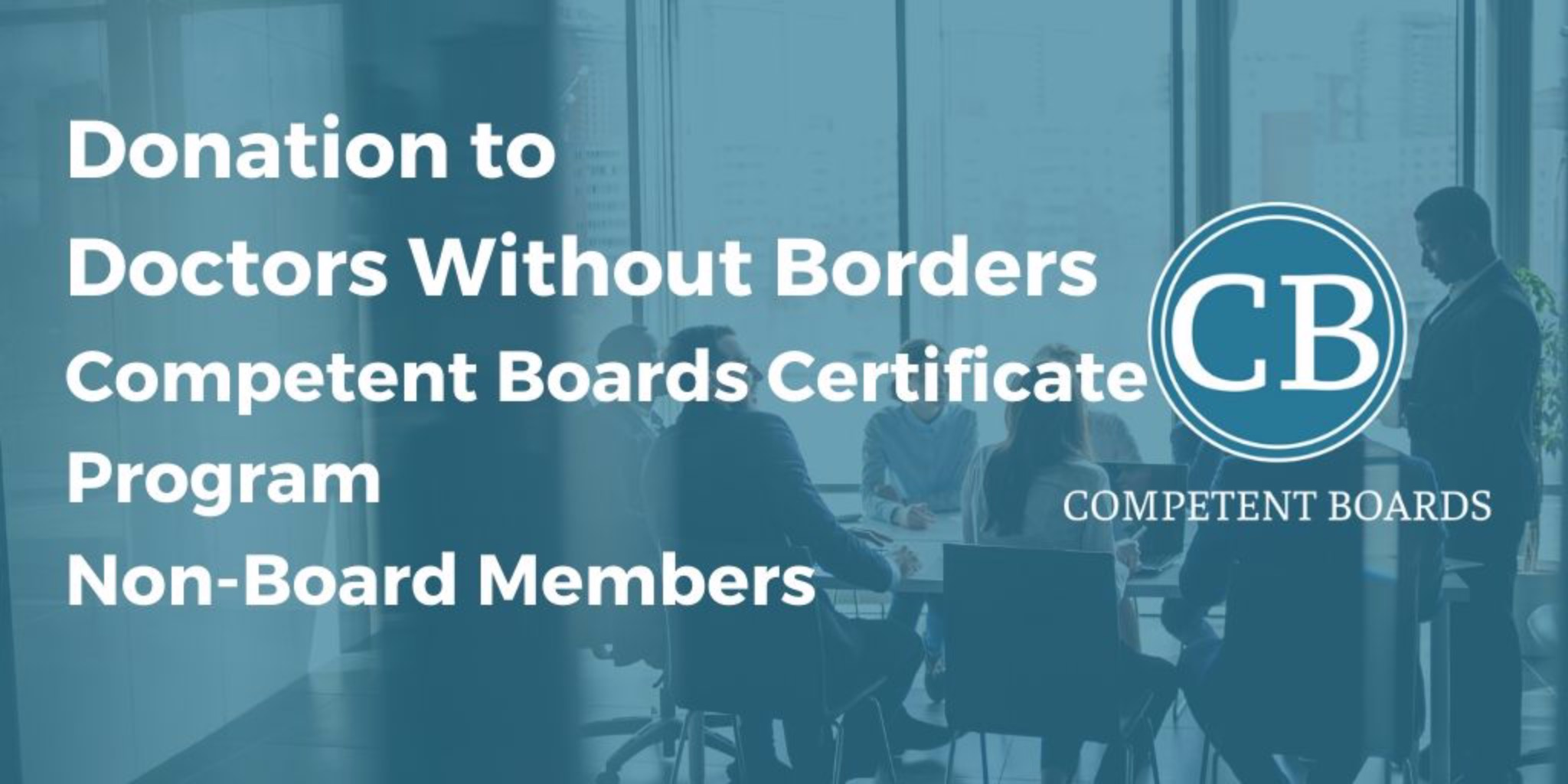 Certificate Program Non-Board Members Sept - Mar: Donation to Doctors Without Borders