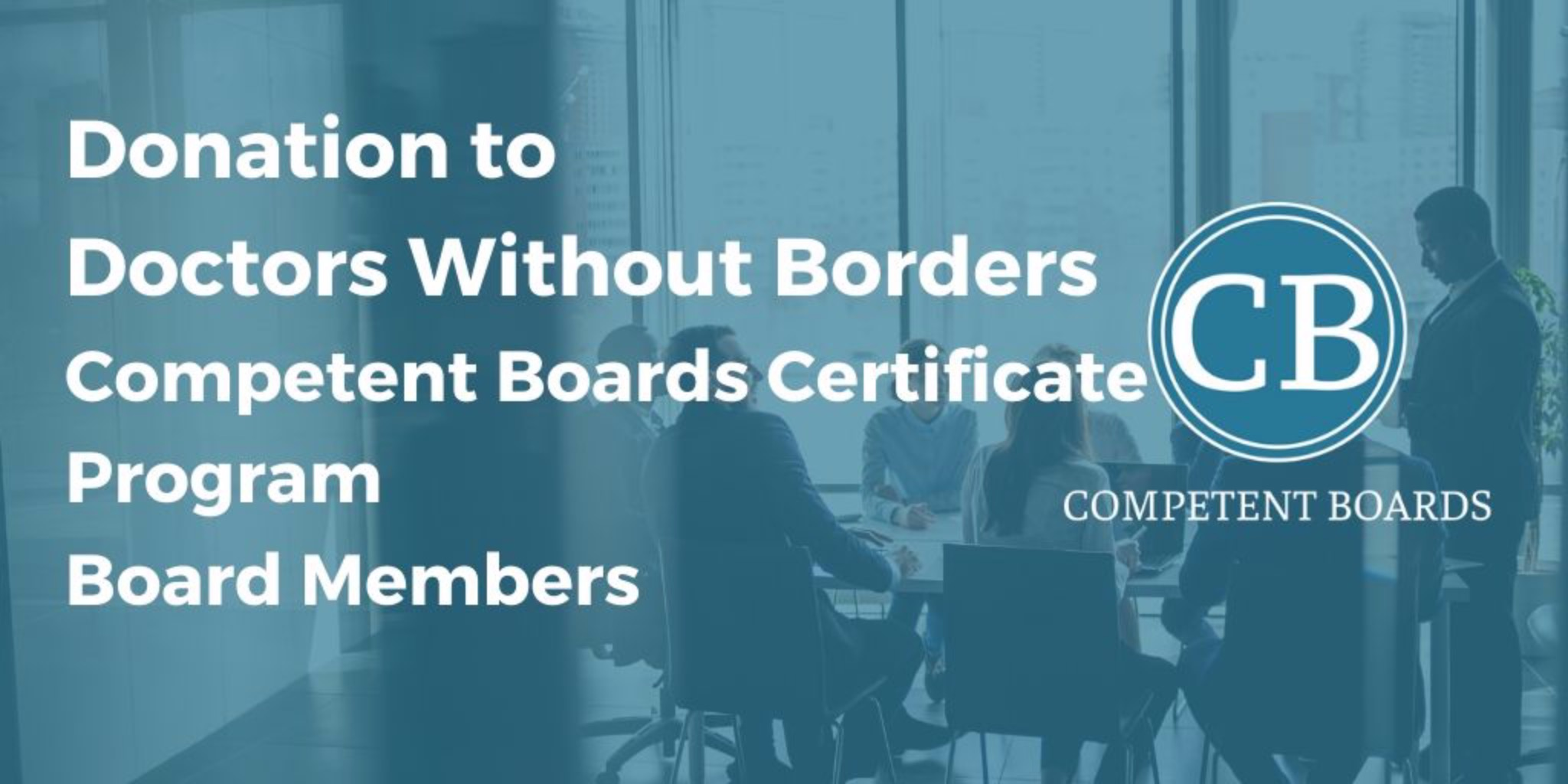Certificate Program Board Members Sept - Mar: Donation to Doctors Without Borders