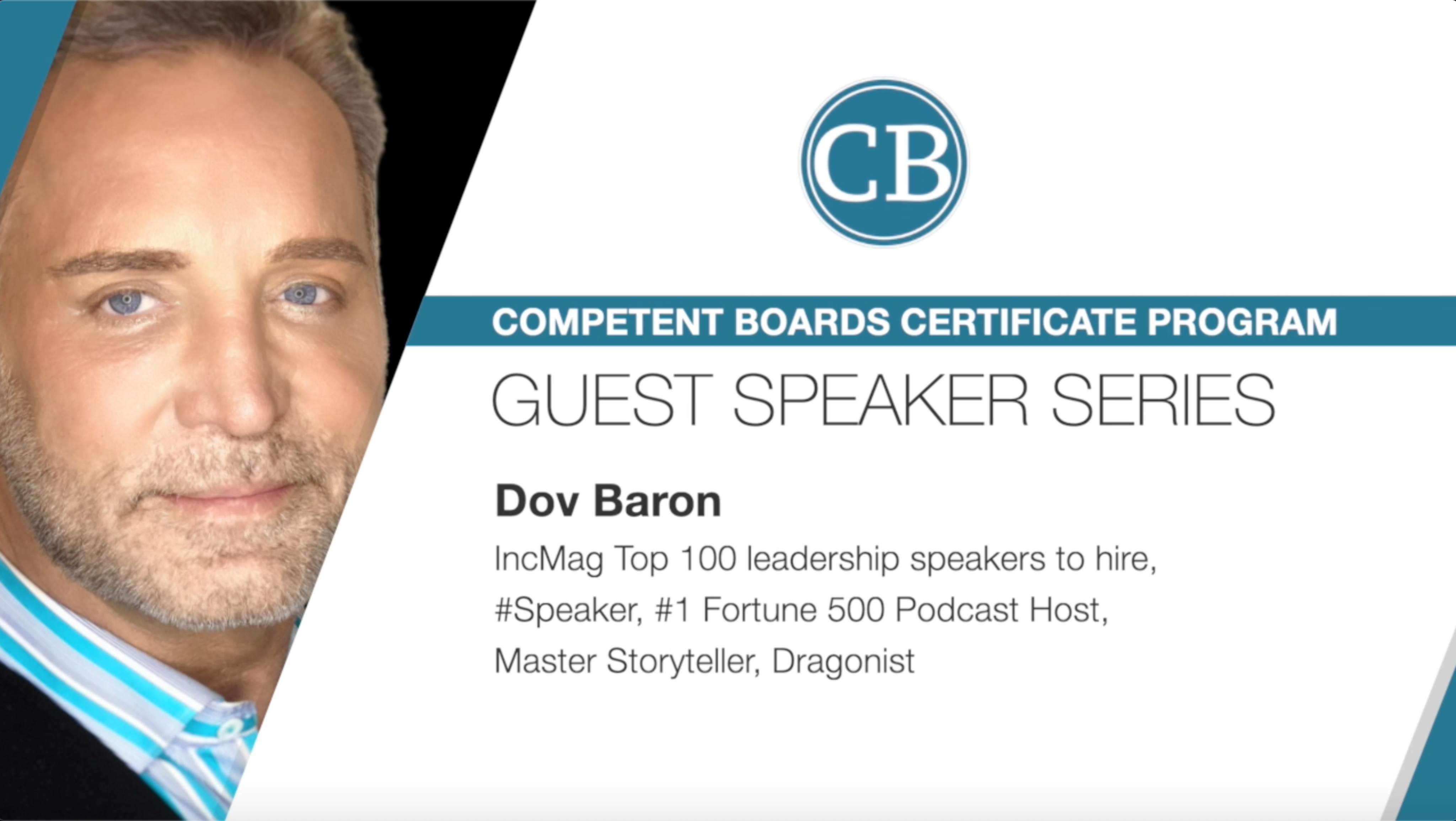 Guest Speaker Series Featuring Dov Baron