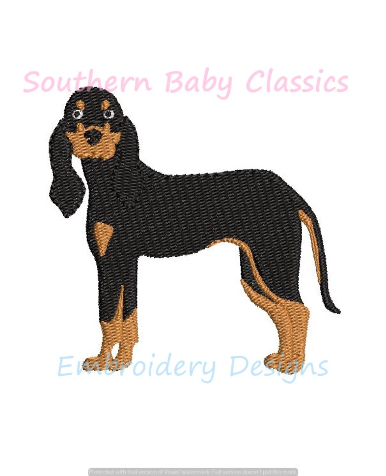 Hound Dog Mini Fill Machine Embroidery Design Mascot Hunting Dogs Tennessee