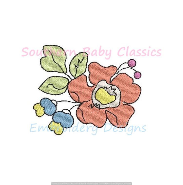 Floral Grouping Mini Fill Machine Embroidery Design Flower Flowers Spring Summer