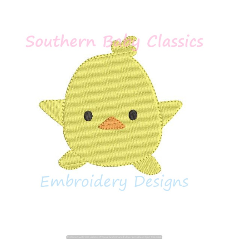 Chick Chicken Baby Spring Duck Mini Fill Machine Embroidery Design Easter