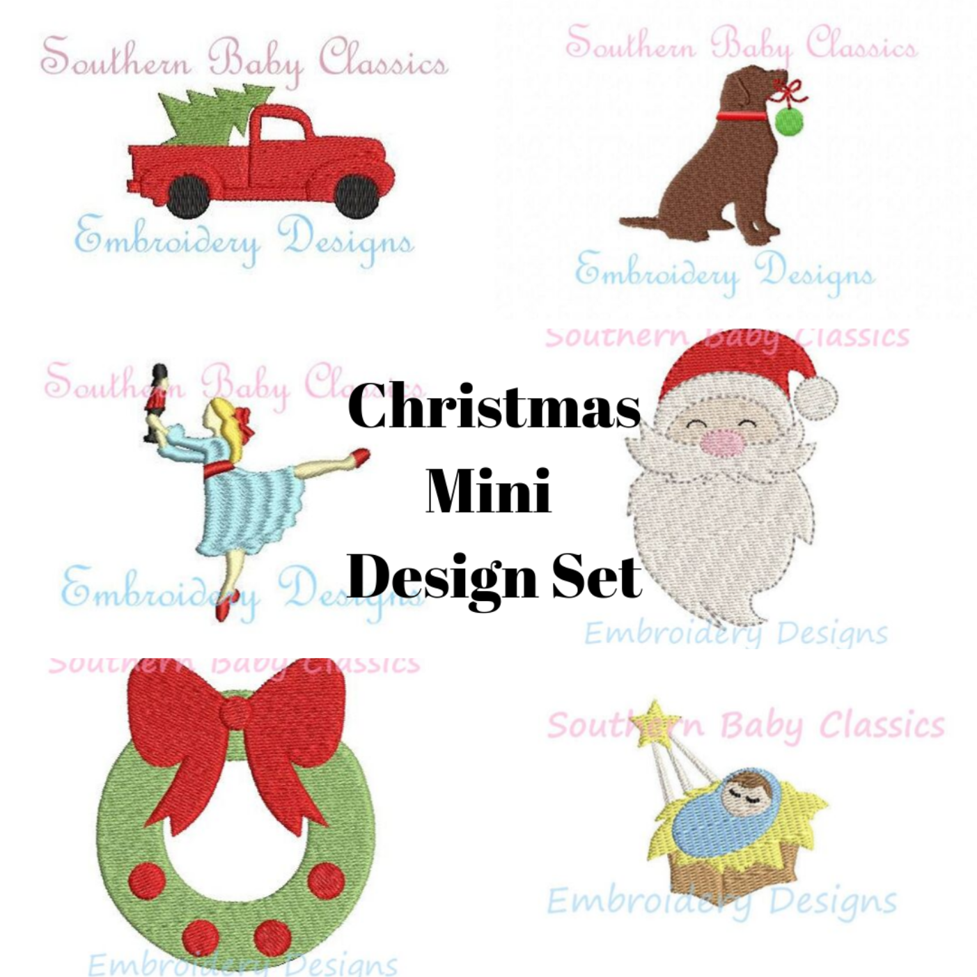 Christmas Mini Fill Designs Design Set Package Machine Embroidery Design Sale Deal