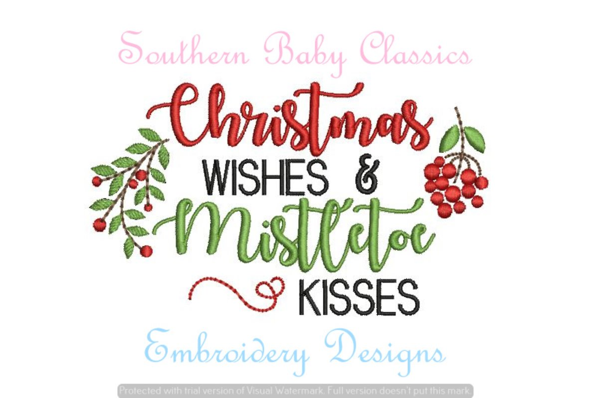 Christmas Wishes Fill Machine Embroidery