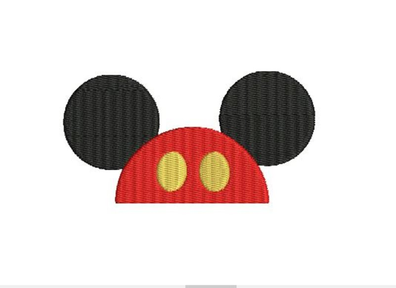 Mouse Hat Fill Machine Embroidery Character