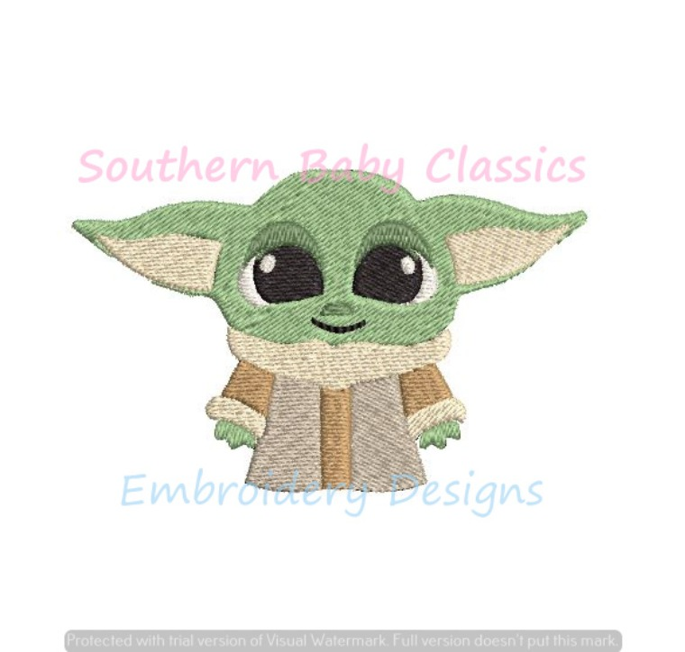 Baby Star Warrior Master Mini Fill Machine Embroidery Design Character