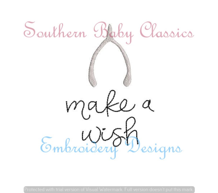 Make A Wish Fill Machine Embroidery Thanksgiving