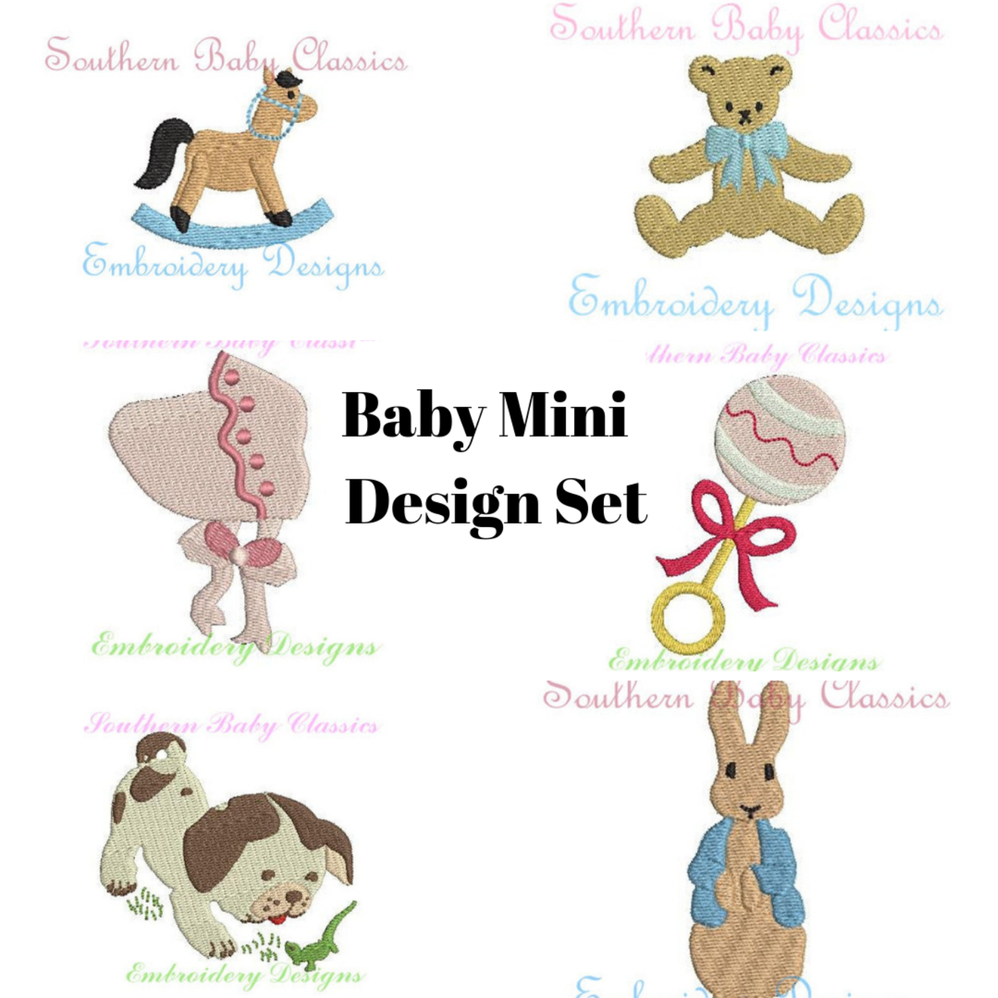Baby Mini Design Pack Set Machine Embroidery Designs Baby Shower New Baby