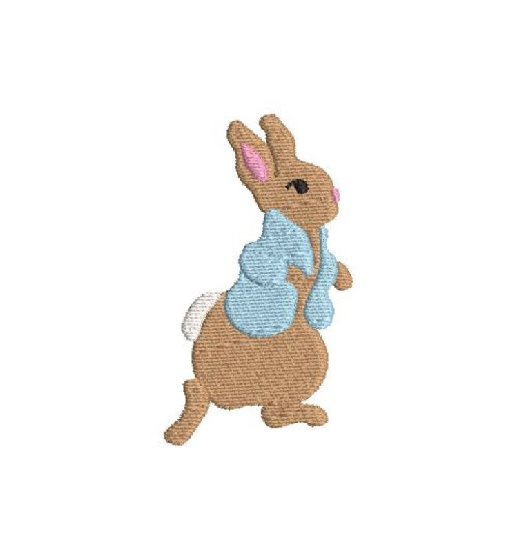 Bunny Boy Mini Fill Machine Embroidery Spring/Easter