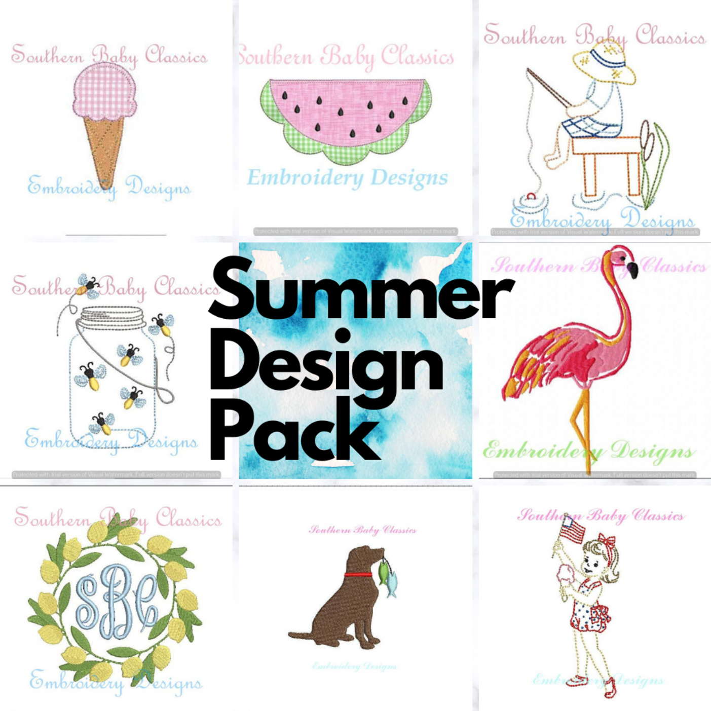 Summer Embroidery Design Pack Machine Embroidery Designs