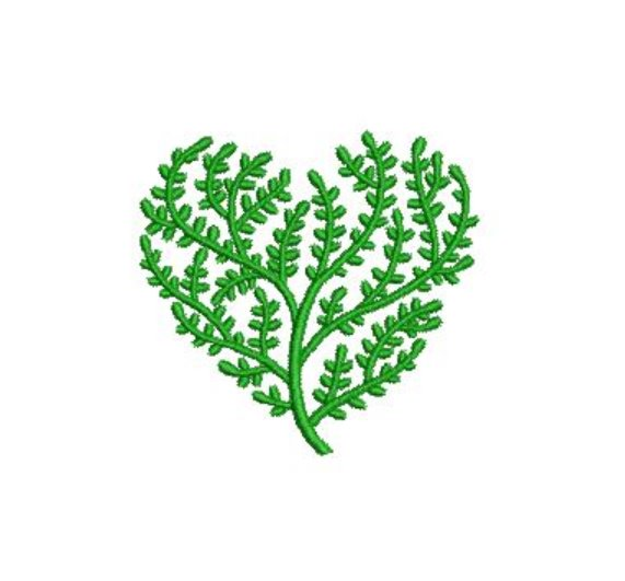 Heart Tree Fill Machine Embroidery Topiary Plant