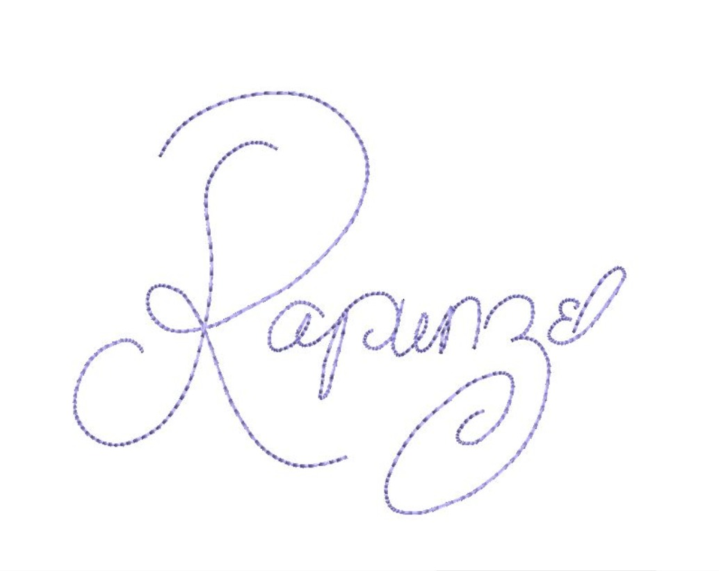 Princess Characters Signatures Names Autograph Package Deal Machine Embroidery Design