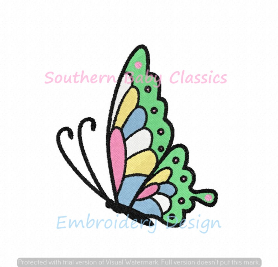 Butterfly Full Fill Machine Embroidery Design Summer Machine Embroidery Design