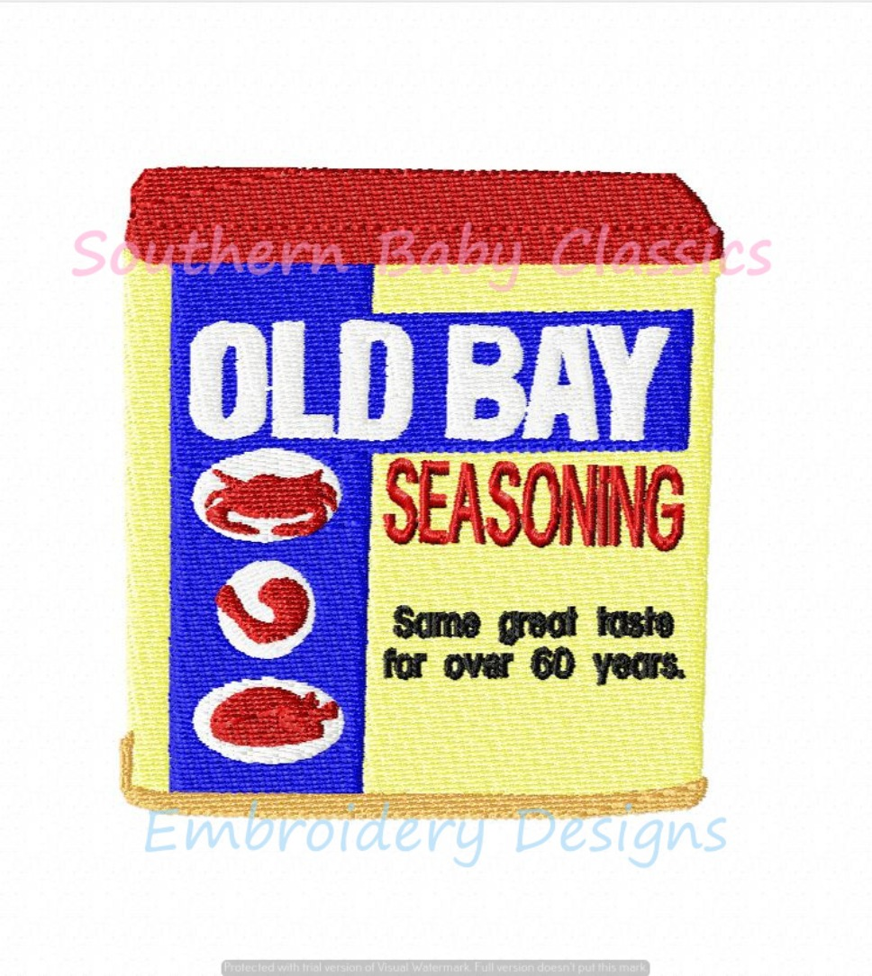 Seafood Seasoning Shrimp Low Country Boil Crab Old Machine Embroidery Design Southern Preppy