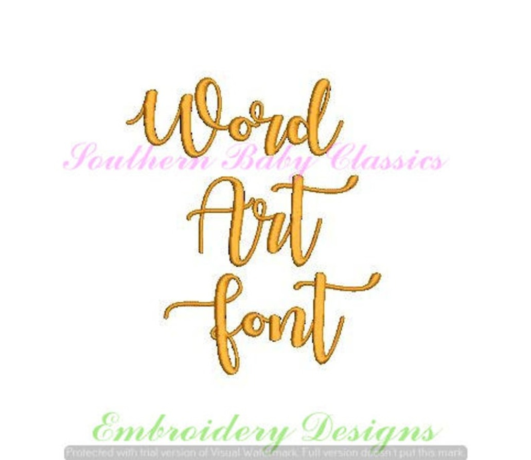 1 One Inch Font Word Art Machine Embroidery Font Machine Embroidery Design