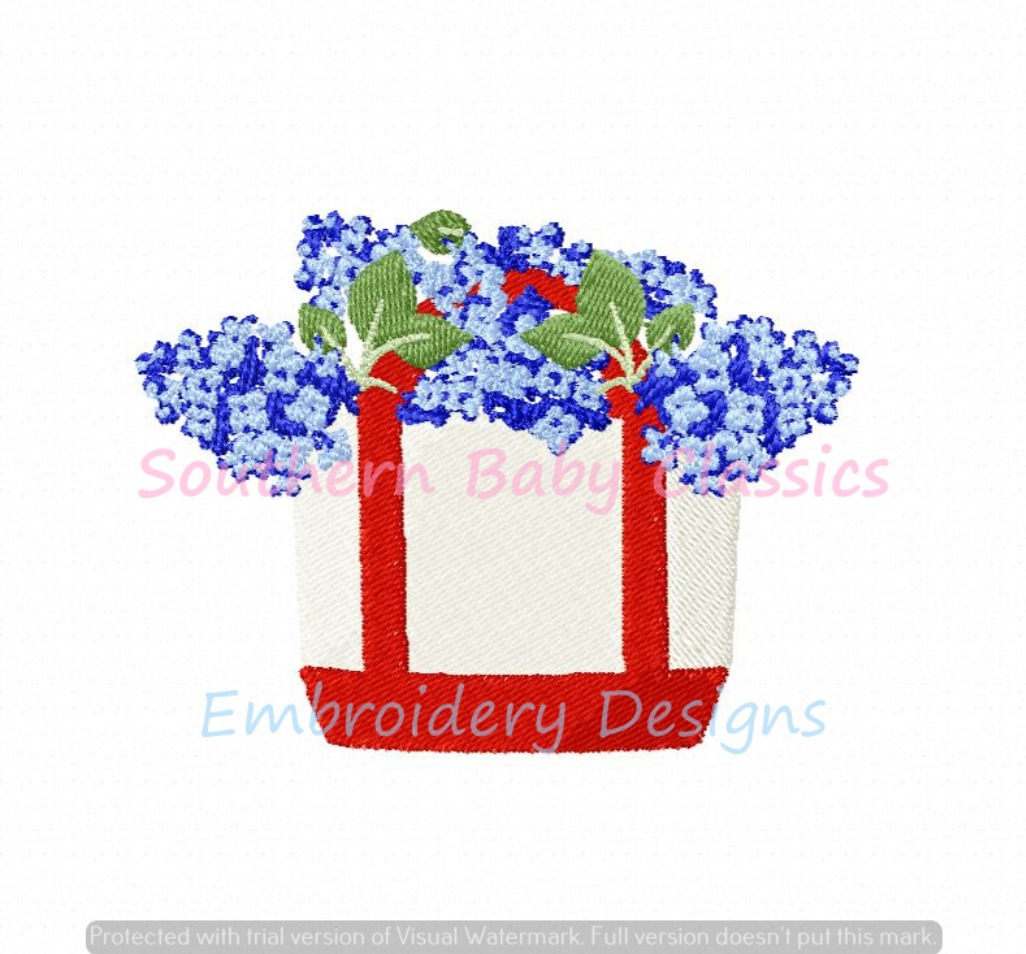 Canvas Boat Tote Bag With Hydrangea Flowers Fill Machine Embroidery Design Summer Spring Preppy
