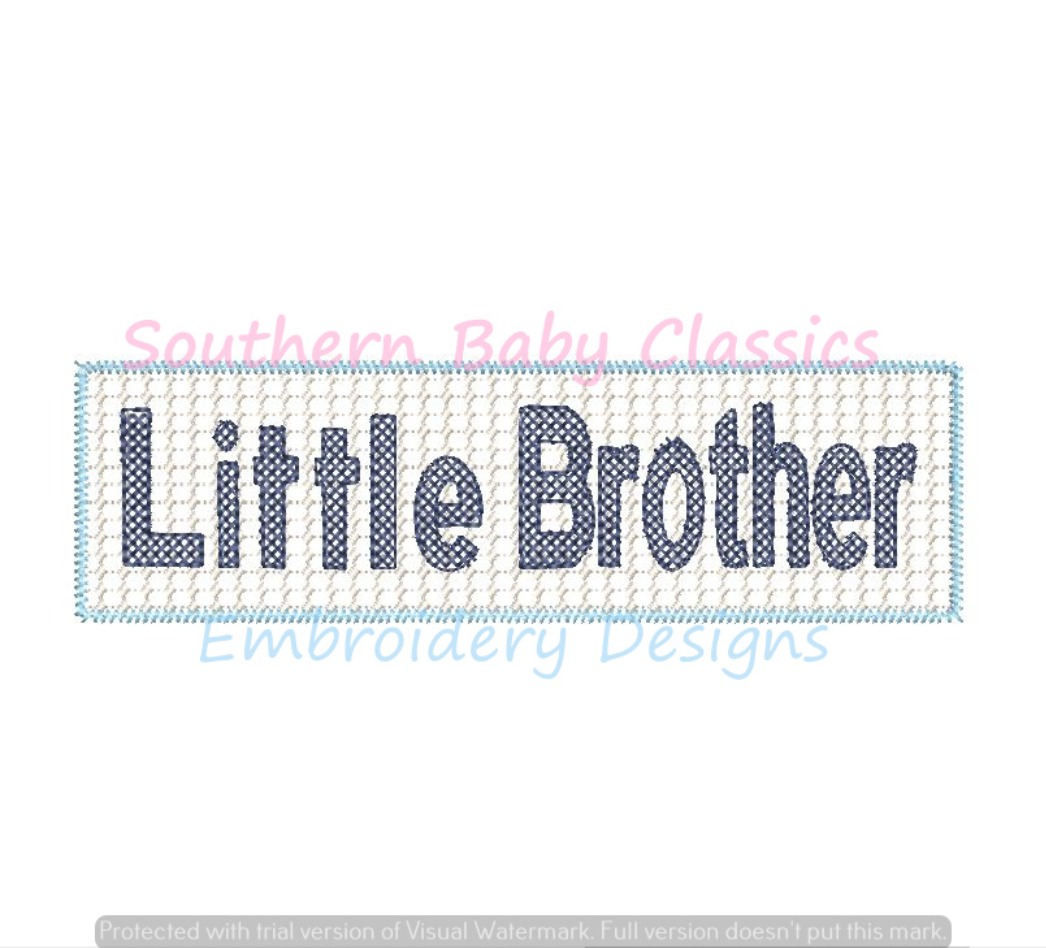 Little Brother Faux Smock Smocking Machine Embroidery Design New Baby Shower