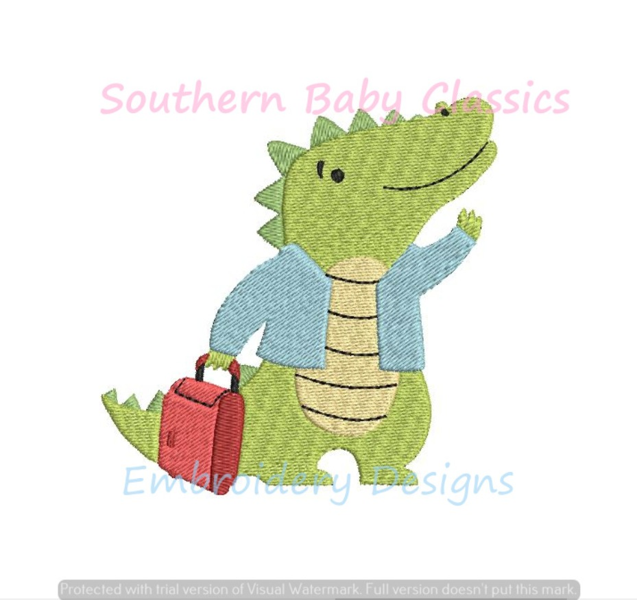 Later Gator Mini Fill Machine Embroidery Design Alligator After While Crocodile Vacation Summer