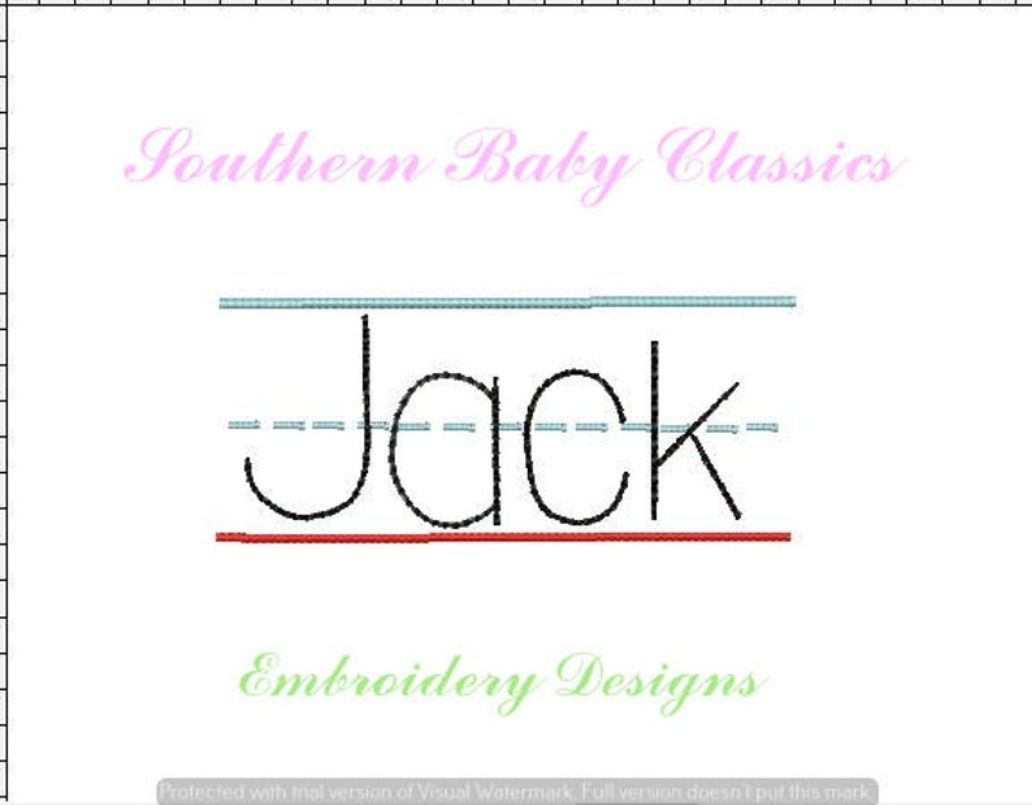 Line Writing Paper Lined Back to School Name Plate Machine Embroidery Design