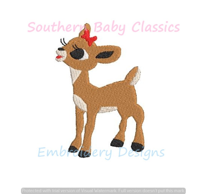 Build Your Own Christmas Rudolph Mini Fill Embroidery Design Clarice Hermey Snow Monster Yukon