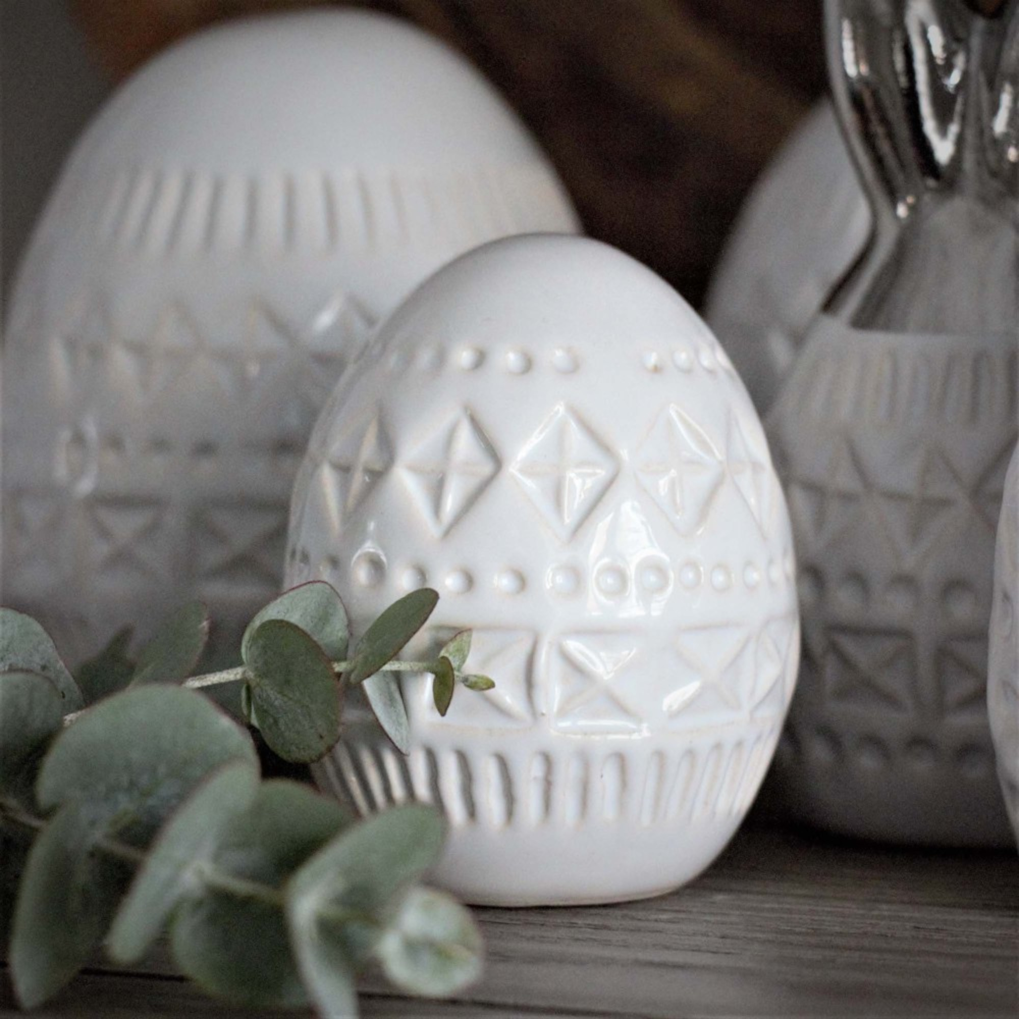 Majas Cottage, Bohemian Decor Egg