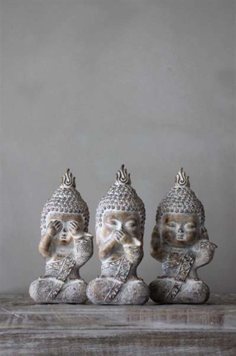 Majas Cottage, Buddha Monks - See,Hear,Speak, No Evil.